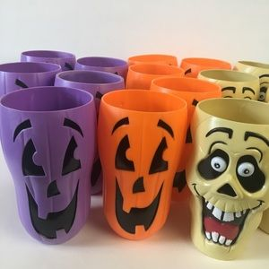 Halloween Plastic Drink Tumblers. 15 total.